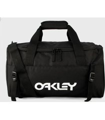 maletín negro-blanco oakley bts era small duffle 25 l