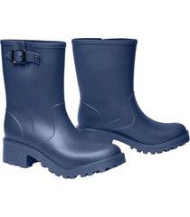 botas de lluvia impermeables stretch caña media mujer azul