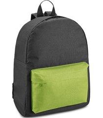 mochila kids two colors topget preto e verde claro