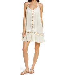 women's chelsea28 emilee tassel cover-up dress, size x-large - ivory