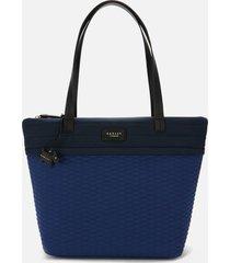 radley women's penton mews colour block large ziptop tote bag - sapphire