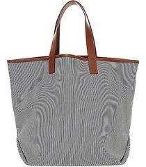 striped tote & pouch set