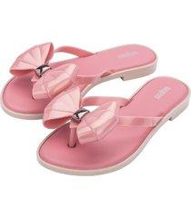 sandalia flip flop slim casual rosa irodin melissa