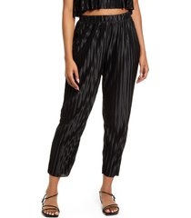 bp. plisse pants, size x-small in black at nordstrom