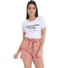 t-shirt pkd estampa limited branca