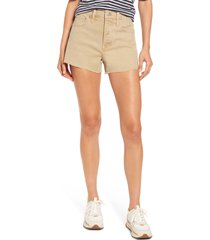madewell relaxed denim shorts, size 31 in light latte at nordstrom