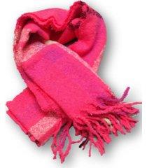 bufanda rosa trendy escocesa
