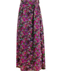 a.n.g.e.l.o. vintage cult 1970's ken scott floral long skirt - purple