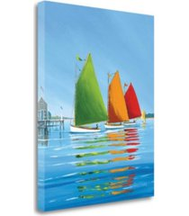 "tangletown fine art cape cod sail by sally caldwell fisher giclee print on gallery wrap canvas, 20"" x 24"""