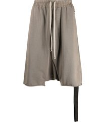 rick owens drkshdw drop-crotch shorts - brown