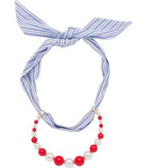 miu miu scarf beaded necklace - yellow