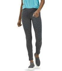 hue women's cotton leggings with side slits