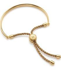 fiji friendship bracelet - metallica, gold vermeil on silver