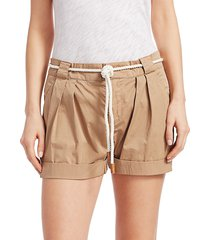 frame women's tie-up rolled shorts - cargo - size 0
