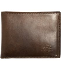 mancini boulder collection rfid secure wallet with removable passcase and coin pocket