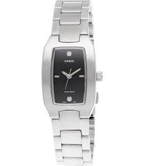 reloj dama casio ltp 1165a-1c2df pulso en acero análogo pulso en acero inoxidable resistente al agua