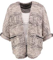 garcia loose fit vest 3/4 mouw met glitterdraad