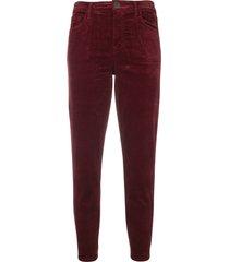 j brand ruby velvet jeans - red