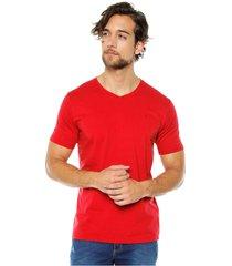 s5118 camiseta básica hombre roja