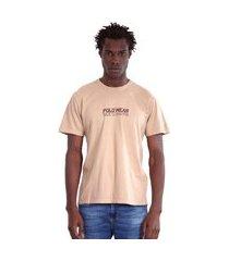 camiseta masculina polo wear 136715 bege ou amarelo