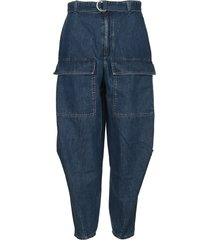 stella mccartney stella mccartney oversized high waist denim pants