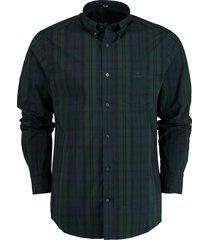 gant overhemd groen/blauwe ruit rf 3030130/374