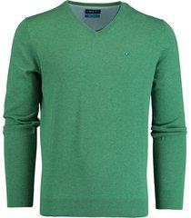 bos bright blue pullover groen v-hals 20105vi01bo/340 green