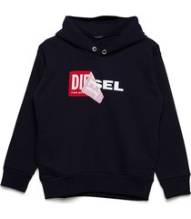 salby over sweat-shirt hoodie trui blauw diesel