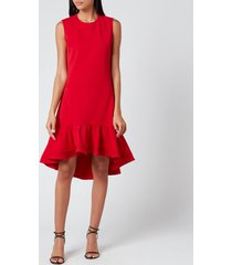 victoria, victoria beckham women's pintuck flounce hem shift dress - postbox red - uk 10