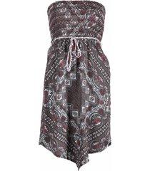 dept - jurk strapless spirit viscose - paars