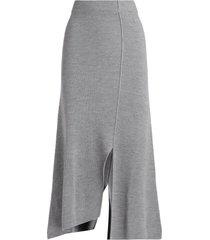 grey midi kenzo skirt