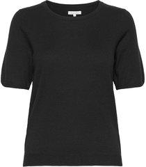 everlotpw pu t-shirts & tops knitted t-shirts/tops zwart part two