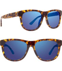 men's diff milo 48mm polarized sunglasses - tortoise/ blue