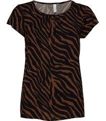 sc-anabel t-shirts & tops short-sleeved brun soyaconcept