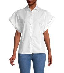 avantlook women's artist casual shirt - white - size s