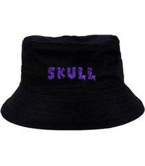 chapéu bucket skull clothing slime - masculino