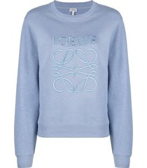 dusty blue anagram pullover sweatshirt