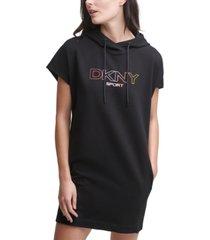 dkny sport hooded sweatshirt dress