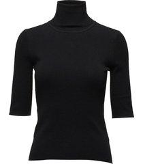 merino elbow sleeve top t-shirts & tops knitted t-shirts/tops zwart filippa k