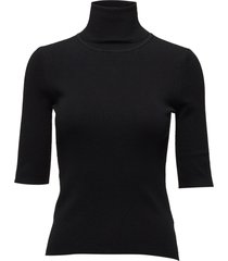 merino elbow sleeve top turtleneck coltrui zwart filippa k