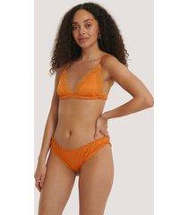 na-kd lingerie volangtrosa - orange
