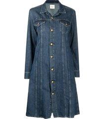 alysi long-sleeve denim coat - blue
