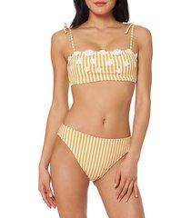 floral striped bikini top
