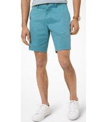 mk shorts in popeline delavé - blu laguna (blu) - michael kors