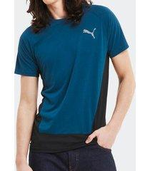 camiseta puma evostripe azul masculina
