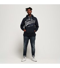 buzo hoodie cerrado para hombre vintage logo xl hood superdry