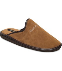 suede lthr upper slippers tofflor beige hush puppies
