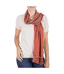 reversible cotton scarf, 'bird of paradise' (guatemala)