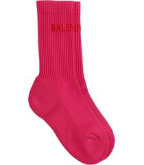balenciaga socks in rose-pink cotton