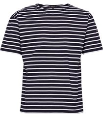 breton striped shirt théviec t-shirts short-sleeved blå armor lux